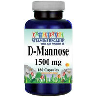 D-Mannose 1500mg 180 Capsules by Vitamins Because ***USA/FDA Facility***
