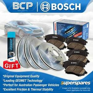 Front + Rear Disc Rotors Bosch Brake Pads for Ford Fairlane NF Falcon EF EL ABS