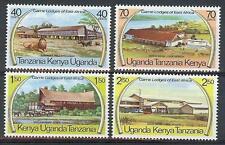 Kenya Uganda 1975 Sc# 300-03 set Wild life game lodge Lion Elephant Mnh