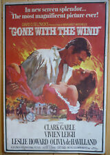 GONE WITH THE WIND Silkscreen PRINT on TIN, 1967 MGM, Clark Gable Movie Film Art