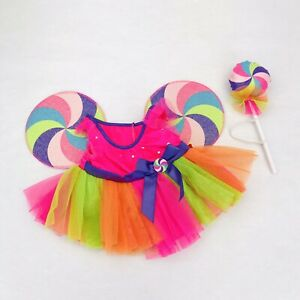 Build A Bear Lollipop Dress Candy Wings Rainbow Clothes Accessory Wand BABW