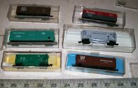 6 X Atlas N Freight Cars PENNSYLVANIA PENN CENTRAL NYC PACEMAKER NEW YORK LN/Box