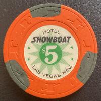 Showboat Casino Las Vegas NV $5 Chip H&C