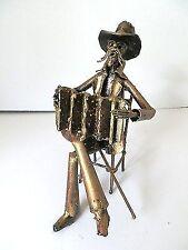 Statuina Vecchio panchina fisarmonica in ferro battuto