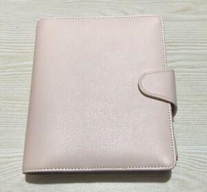 Kikki.K Leather Planner B6 Blush Pale Pink Rose Gold & Pen - Undated Diary - NEW