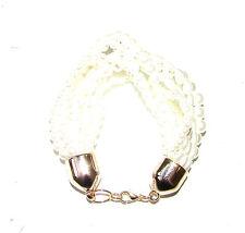 Ivory White Gold Pearl Bracelet Art Deco 1920s Flapper Great Gatsby Vtg 30s 1457