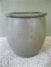 Antique Salt Glaze Crock Vintage Primitive 1 Gallon Circa 1880 Stoneware Storage