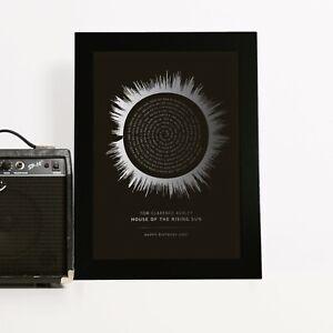 Sound Wave 'Colour Gradient' Song Lyrics Print Gift for Boyfriend Girlfriend