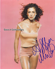 ALYSSA MILANO signed photo - CHARMED - MELROSE PLACE - D4655