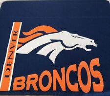 "NFL Denver Broncos Logo Curtain Valance Football Window Dressing Sports 88"" Wide"