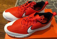 Nike Mens Size 8 Explore 2 Golf Shoes Orange White New Men 849957-800 Cleats Men