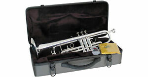 Lauren Bb Silver Plated Student Trumpet w/ Case & Extras