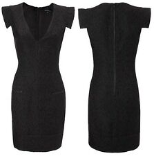 French Connection Kosmic Kiss Wool Blend Cap Sleeve Sheath Dress Size 8