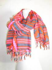 Sir Alistair Rai Honey suckle scarf Wrap red gray pink colors New