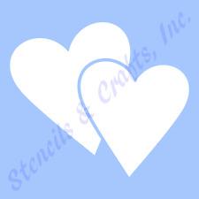 HEART STENCIL DOUBLE HEARTS TEMPLATE STENCILS PAINT SCRAPBOOK CRAFT ART NEW