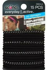 "Scunci Everyday & Active Hair Ties, Black, ""15 count"""
