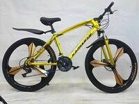 "MOUNTAINBIKE 26 Zoll JUGENDFAHRRAD Fahrrad ""Kamarte"" MTB 21 Gang Gold"