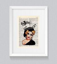 RuPaul Bianca Del Rio Really Queen ! Vintage Dictionary Book Print Wall Art