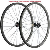 29ER Carbon Mountain Bicycle Wheels MTB Wheelset Disc Brake Wheels QR/THRU AXLE