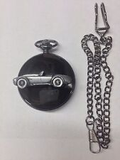 Shelby Cobra ref239 Pewter Effect polished black case mens pocket watch