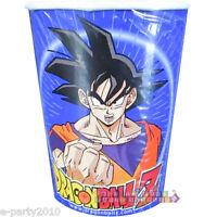 DRAGON BALL Z 9oz PAPER CUPS (8) ~ Birthday Party Supplies Beverage Drink Goku