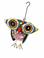 METAL LANTERN/ TEA LIGHT HOLDER OWL SHAPED for Indoor and Outdoor Use 18 cm new