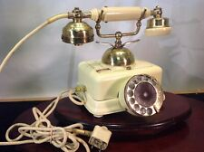 Antique Phone French Style Victorian Solid Brass And Beige Rotary Phone