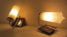 Paar Lampe Vintage Wandlampe '60/'70er Jahre Chrom Glas