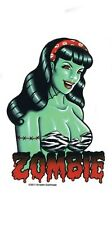 Zombie Pinup Bettie Page Pop Culture Vinyl Sticker Van Decal by Kirsten Easthope