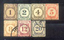 Malaya Malaysia 1951-62 Postage Due. CV Rm 113