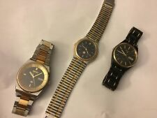 Vintage Seiko Mens Watch Lot  Alarm Lassale Moon Phase Parts Repair