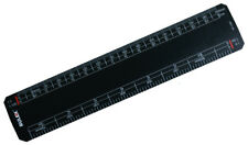 """Rulex 150mm 6"""" black scale ruler 1:1 1:100 1:5 1:50 1:20 1:200 1:1250 1:2500"""