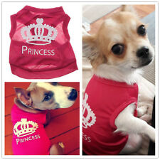 Small Girl Dog Clothes Summer T Shirt Pet Puppy Cat Vest PRINCESS for Chihuahua