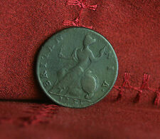 1735 Great Britain 1/2 Penny World Coin Britania Seated UK England George II