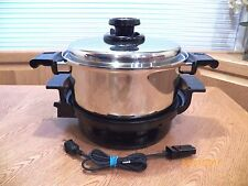 LUSTRE CRAFT 4QT FAMILIE KITCHEN POT SLOW COOKER BASE 5 PLY STAINLESS VENTED LID