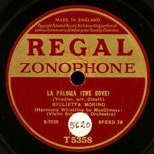 GIULIETTA MORINA -Violin & Whistling-  La Paloma / O sole mio   Schellack  S6722