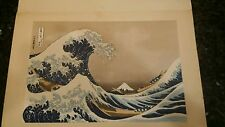 "HOKUSAI ""Turn of the Waves"" Woodblock Print, 1963 Edition of Latter Days 1"