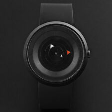 Luxus Herren Silikon Armbanduhr Sportuhr Analog Quartz Spangenarmband Watch DE