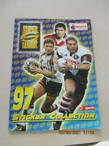 Merlin Super League 97 Sticker Collection Empty Album Rugby League