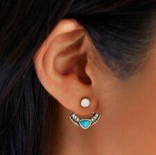 Fashion Jewlery Jcrew Styel Geometric Double Sided Front Back Ear Jacket Earring