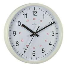 Acctim White Metro 24 Hour Plastic Wall Clock 355mm 21202 [ANG21202]