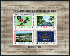 Jamaica 257a, MI Bl.3, MNH. 8th British Empire and Commonwealth Games. Flag,1966