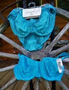 NWT Secret Treasure Bra & Panties Set + NWT Bra - Embossed Flowers & Lace