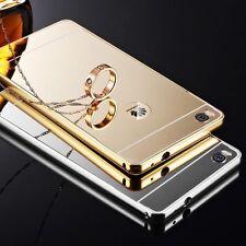 LUXE Housse Etui Coque Bumper Miroir Aluminium Metal Slim case cover pour Huawei