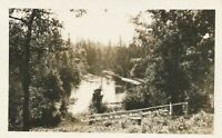 GRAYLING MI – Ausable River at Wa-Wa-Sum Real Photo Postcard rppc
