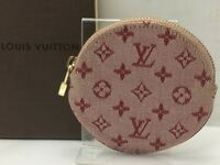 Auth Louis Vuitton Monogram Mini Porte Monnaie Rond Coin Case 9C131000ma