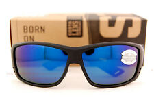 c9a38d0135 New Costa Del Mar Fishing Sunglasses CAT CAY Blackout Blue Mirror 580G  POLARIZED