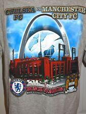 CHELSEA VS MANCHESTER CITY 2013 FOOTBALL SOCCER Short Sleeve T-shirt Size L HTF