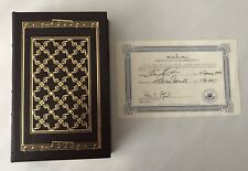 EASTON PRESS Clay Aiken LEARNING TO SING Signed Edition LEATHER COLLECTOR'S ED.