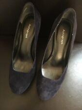 Ladies High Heel Shoes Purple Size 5 Suede Autograph <T16201
